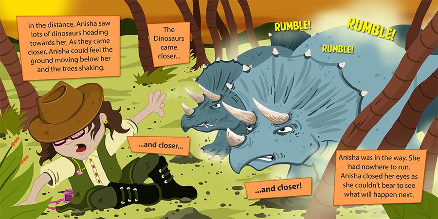 Anisha's Adventures Prehistoric Spread