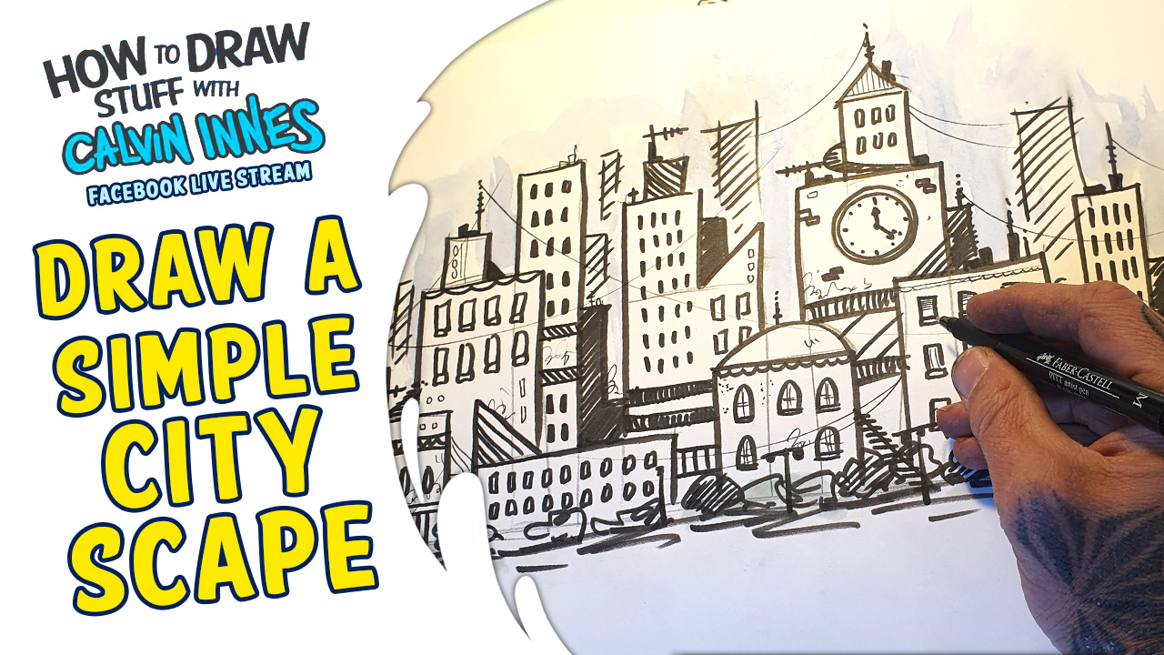 How To Draw Stuff With Calvin Innes – Simple Cityscapes