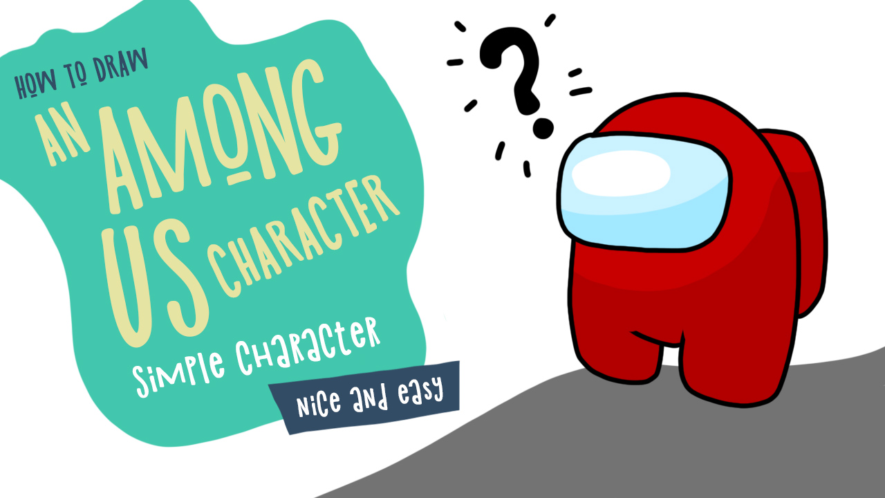 How to draw an Among Us character. Simple drawing tutorial